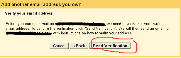 send email as - send verification